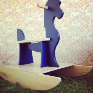 """Wooden Rocking Horse in 'Ahoy"""""""